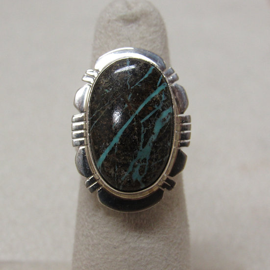 Sterling Silver and Boulder Turquoise Ring Ladies Size 5