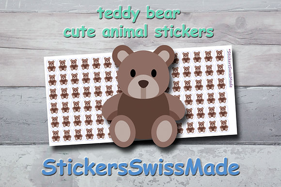 TEDDY BEAR - cute stickers - multicolored icons