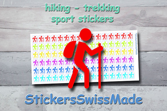 HIKER - sport stickers - rainbow colored icons