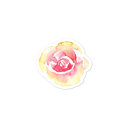 watercolor flower stickers in three sizes