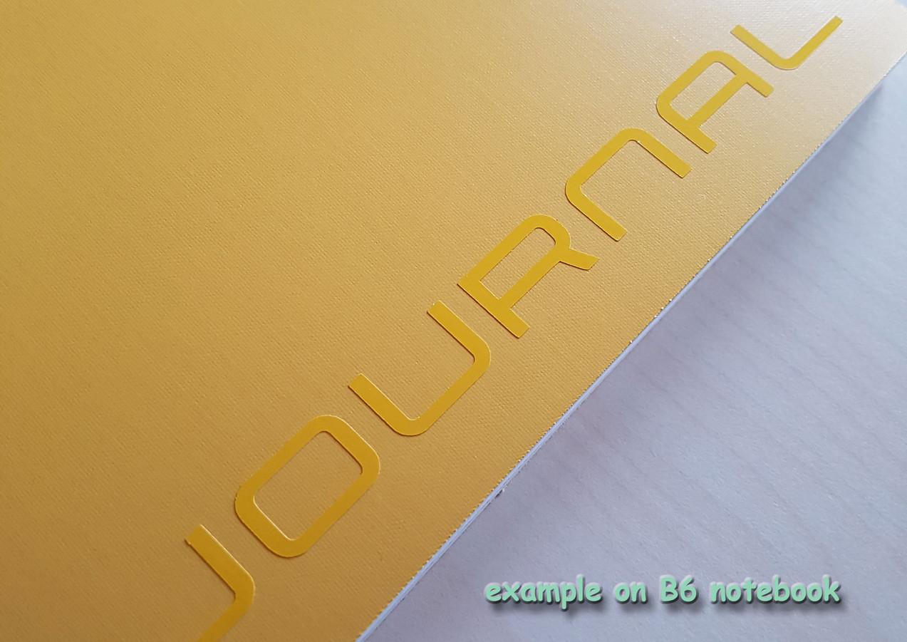 vinyl decals - journal