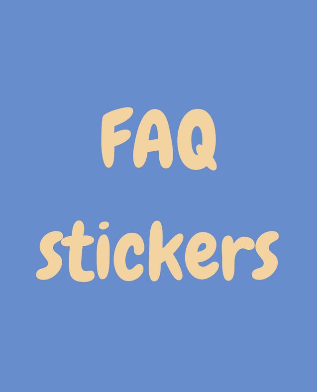 FAQ about stickers from StickersSwissMade