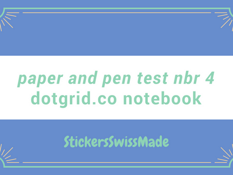 paper and pen test #4: notebook of dotgrid.co