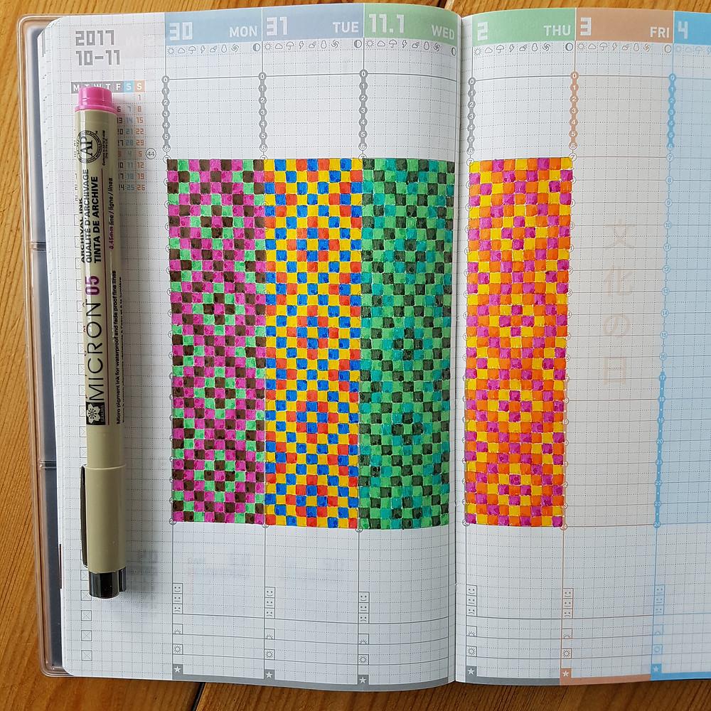 StickersSwissMade-color doodles in Jibun Techo-Jun18