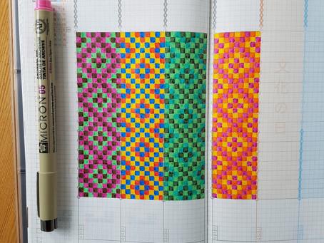 Color doodling in a Jibun Techo