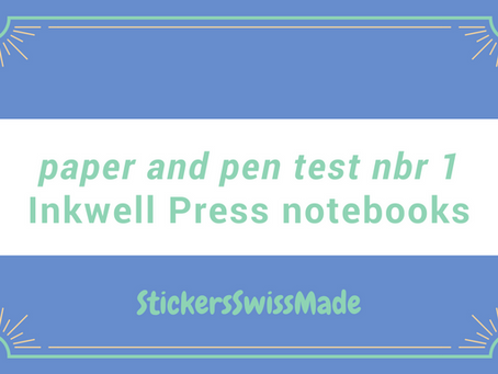 paper + pen test #1: Inkwell Press hardcover notebooks