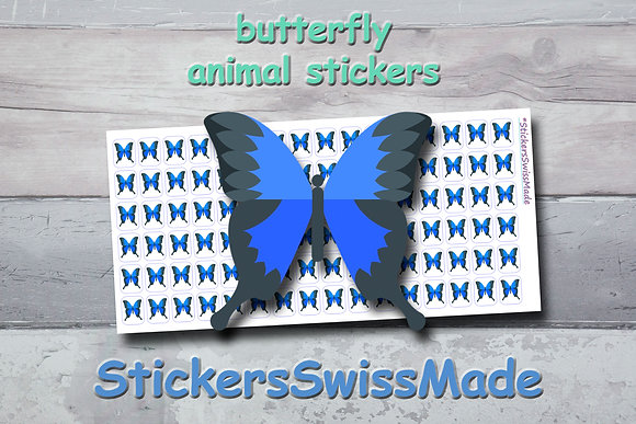 BUTTERFLY - animal stickers - multicolored icons