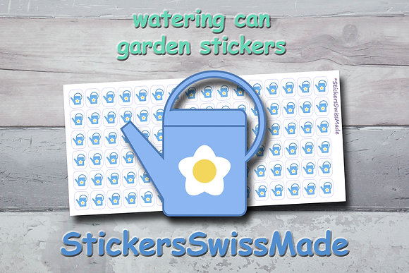 WATERING CAN - garden stickers - multicolored icons