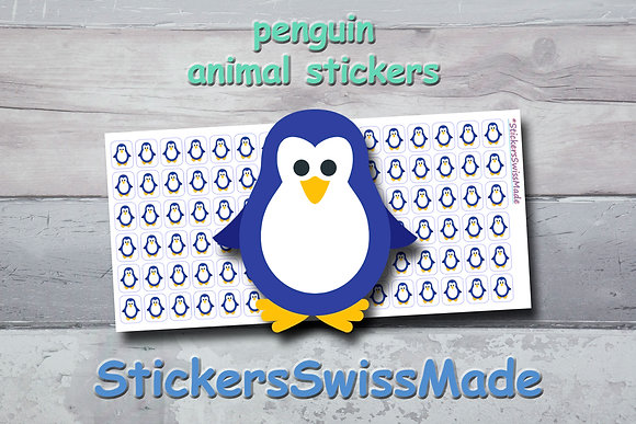 PENGUIN - animal stickers - multicolored icons