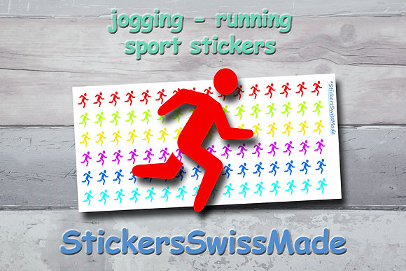 JOGGER - sport stickers - rainbow colored icons