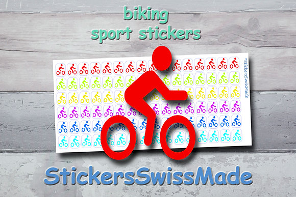 BIKER - sport stickers - rainbow colored icons