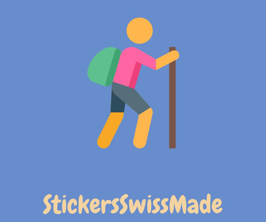 hiker sticker