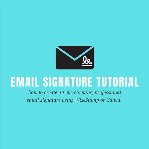 Email Signature Tutorial w/ Templates