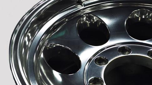 Polished Truck Wheel