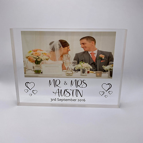 Couple's Acrylic Photo Block