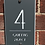 Thumbnail: Contemporary House Sign 15x25cm