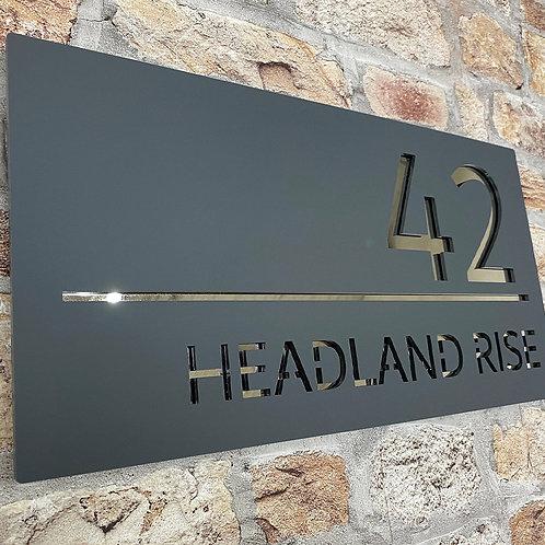 Contemporary House Sign 40x20cm