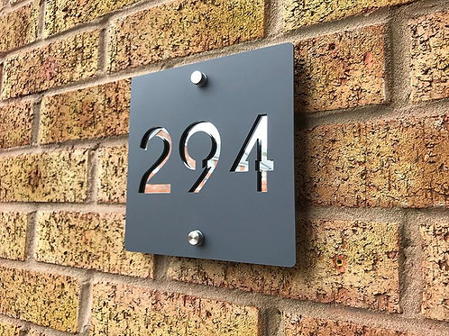 Contemporary House Number
