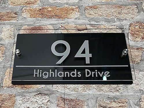 Personalised House Sign 30x15cm