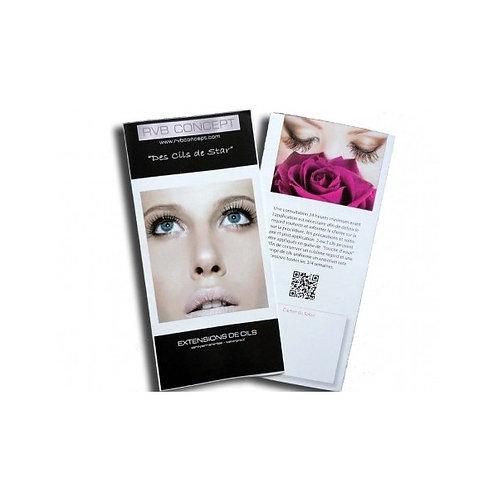Brochure extension de cils 50 pièces