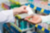 Pharmacists' hands