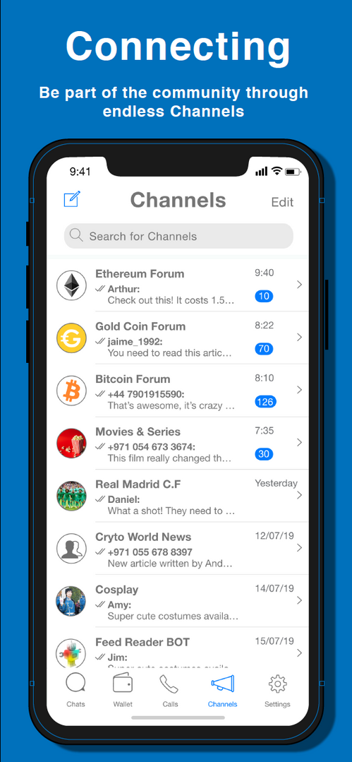 Telechat App UI Design