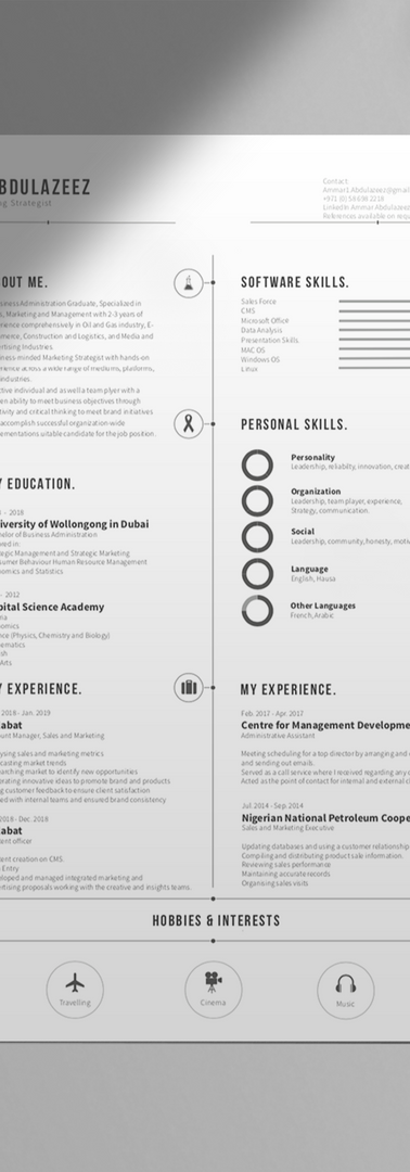 Curriculum Vitae Design