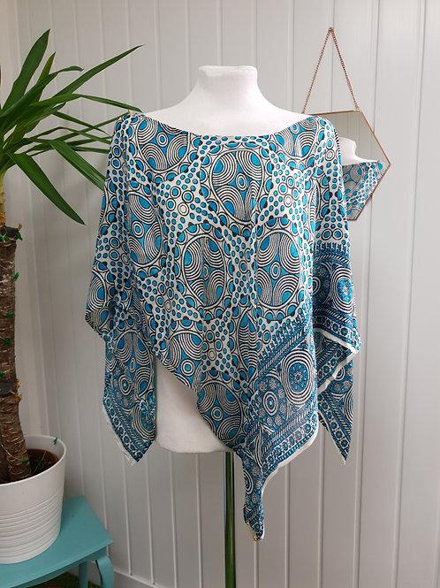 Blue Silk Poncho (SUM, WIN)