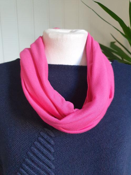 Handmade Infinity Jersey Scarf in Raspberry Pink (SUM, WIN)