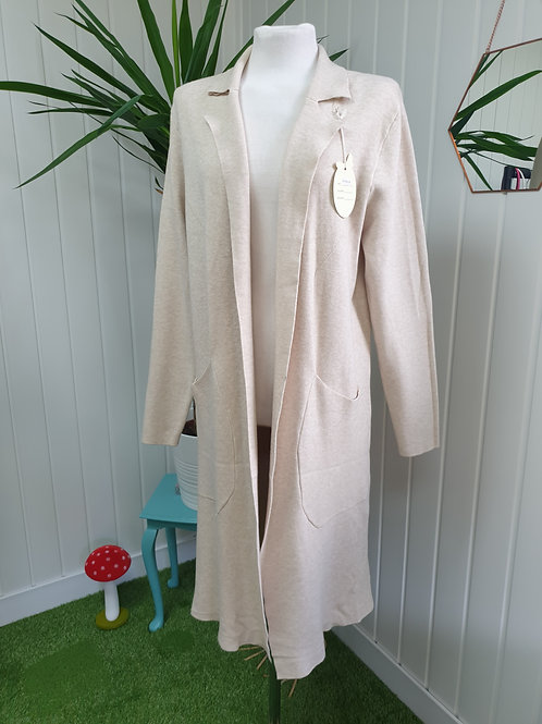 Casual Cardi /Coat in Cream -Size XL (16-18) (AUT, SPR)