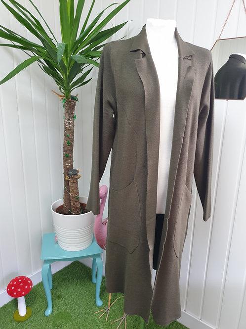 Casual Cardi /Coat in Khaki -Size XL (16-18) (AUT)