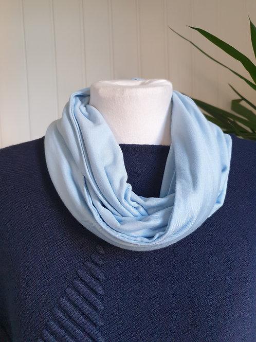 Handmade Infinity Jersey Scarf in Light Periwinkle Blue (SUM, WIN)