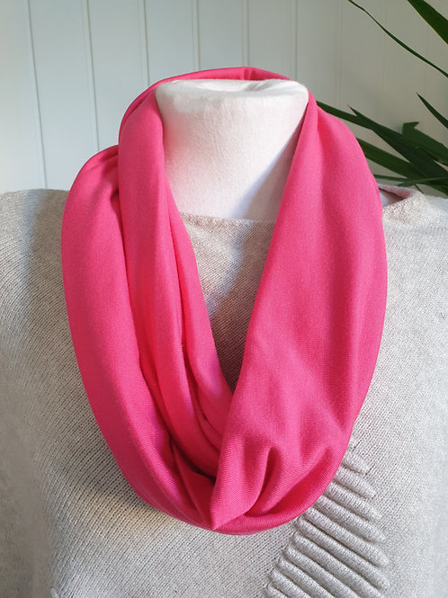 Handmade Infinity Jersey Scarf in Coral Pink (SPR)