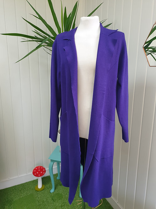 Casual Cardi /Coat in Purple -Size XL (16-18) (AUT, WIN)