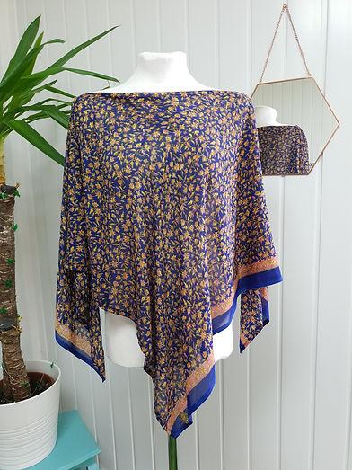 Sparkling Ginger Poncho kimono cover up