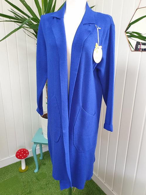 Casual Cardi /Coat in Colbalt Blue -Size XL (16-18) (WINT, SPR)