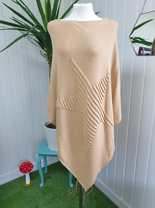 Sand Knitted Soft Poncho (AUT, SPR)