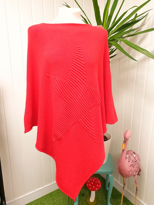 Red Soft Poncho (SUM, SPR, AUT, WIN)