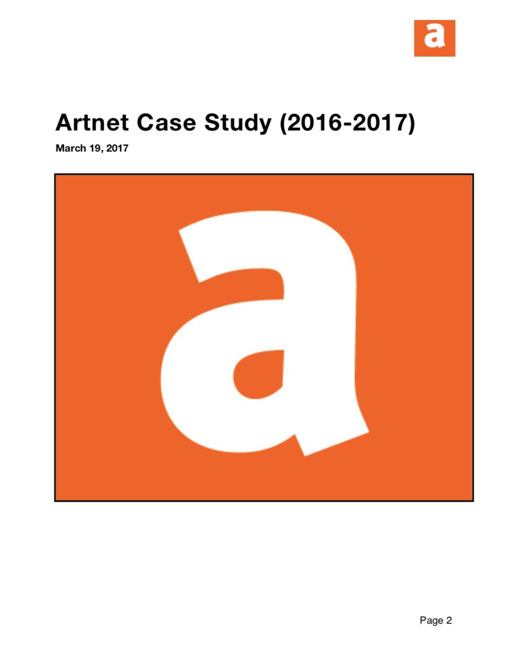 Artnet Case Study (2016-2017)