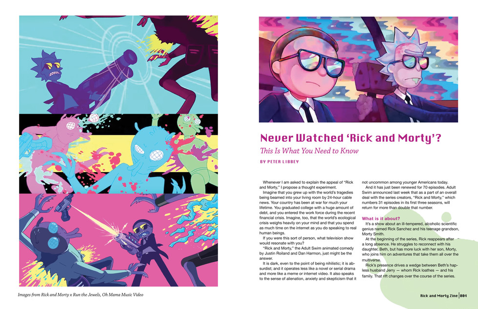 Rick and Morty Zine-Spread 3
