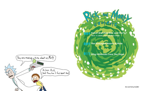 Rick and Morty Zine- Spread 1