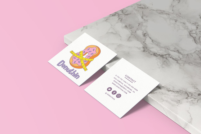 Donuthin Business Card