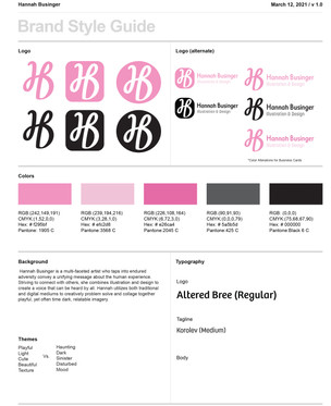 Personal Brand Style Guide