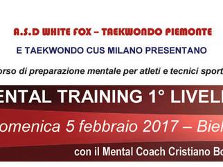 5 feb 17 - Corso Mental Training 1° Livello Biella