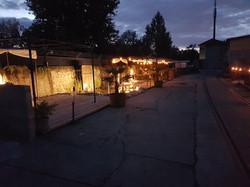 Pergolas bei Tipi Nacht