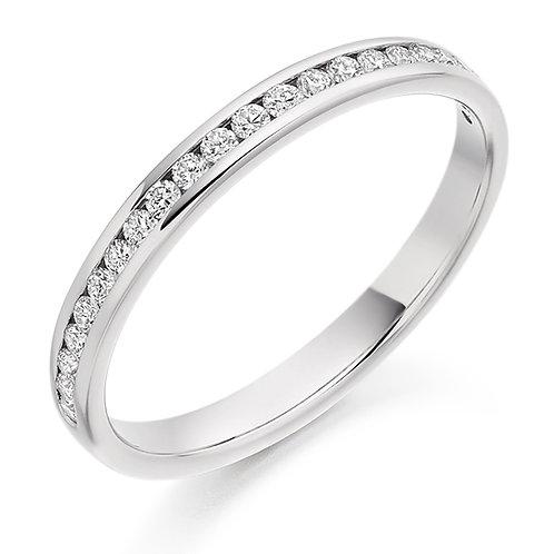 0.25ct Channel Set Round Diamond Half Eternity Ring