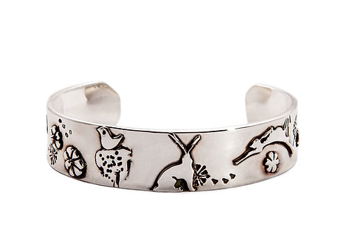Bloom where you are planted Cuff
