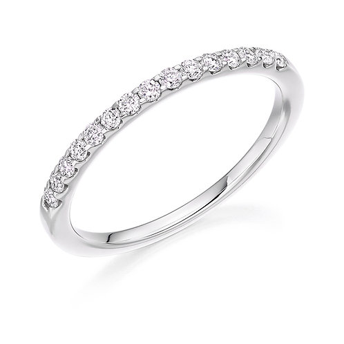 0.25ct Micro Claw Set Round Diamond Half Eternity Ring