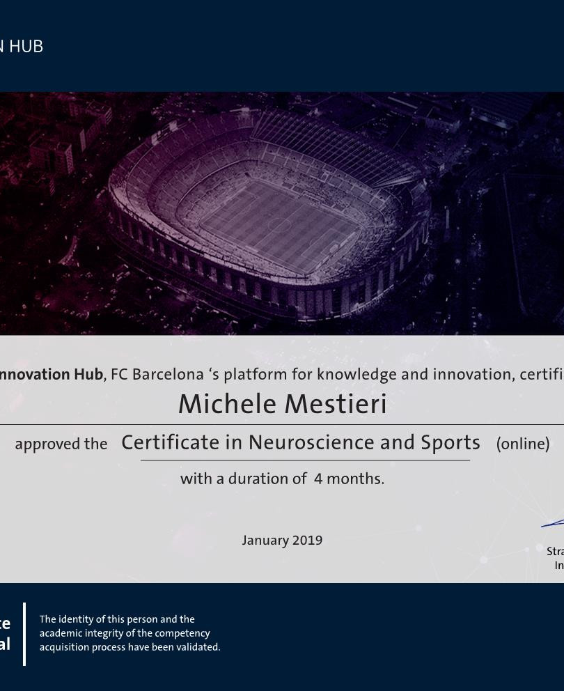 Certificate in Neuroscience and Sports.j