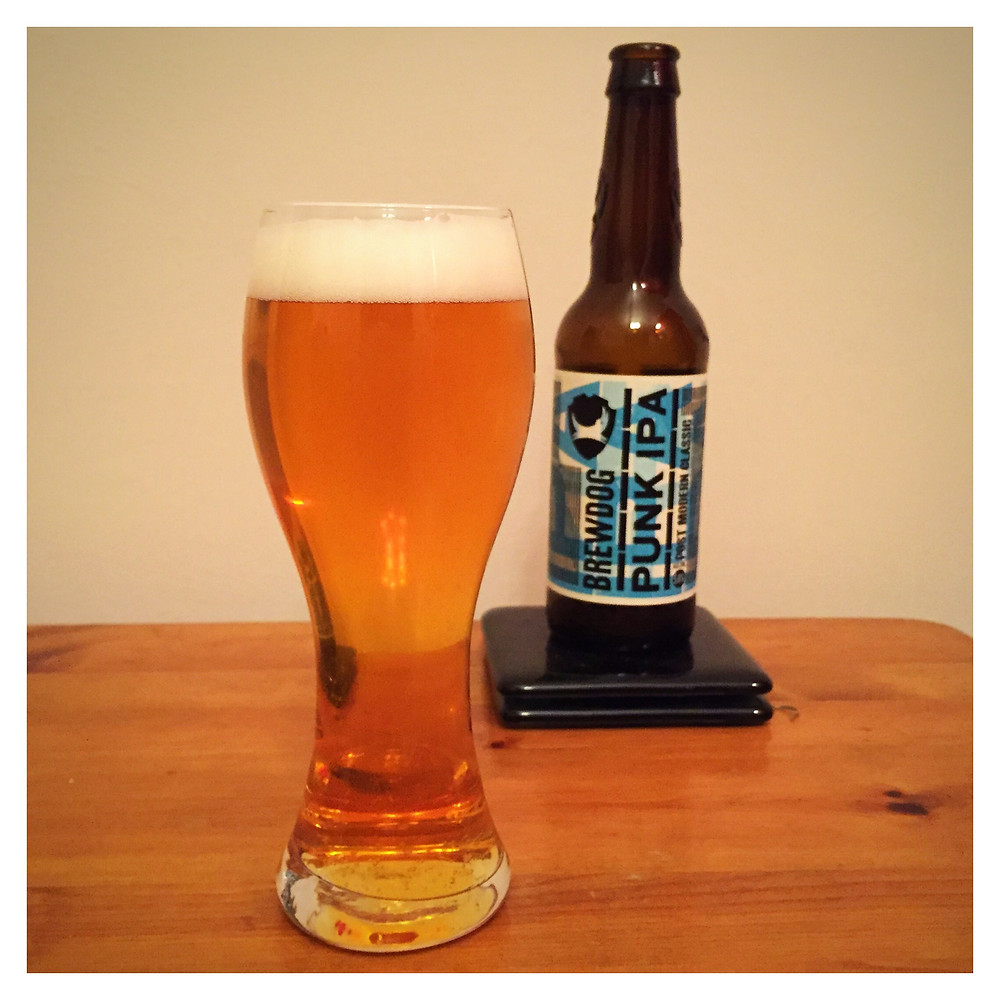 Punk IPA Poured - Craft Beer Reviews